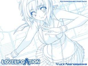 Rating: Safe Score: 33 Tags: iizuki_tasuku lovely_x_cation nanasawa_yuni sketch User: oranganeh