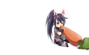Rating: Safe Score: 36 Tags: animal_ears blue_eyes blush boots bunny_ears bunnygirl food kyuushuu_sentai_danjiger long_hair maruki_(punchiki) ponytail saga_kuronosuke tail white User: SciFi