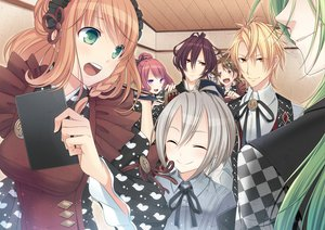 Rating: Safe Score: 62 Tags: amnesia blonde_hair brown_hair green_eyes green_hair heroine_(amnesia) long_hair maid mine_(amnesia) orion_(amnesia) red_eyes sama sawa_(amnesia) shin_(amnesia) short_hair tagme toma_(amnesia) ukyo_(amnesia) white_hair User: opai