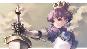 Rating: Safe Score: 64 Tags: armor crown gradriel kawata_hisashi princess_crown purple_eyes purple_hair User: Toshiro.A