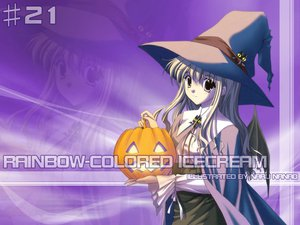 Rating: Safe Score: 17 Tags: halloween nanao_naru rainbow_colored_icecream witch User: Oyashiro-sama