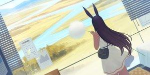 Rating: Safe Score: 38 Tags: animal_ears black_hair bunny_ears dress kamu_kame landscape long_hair original scenic summer_dress water User: otaku_emmy