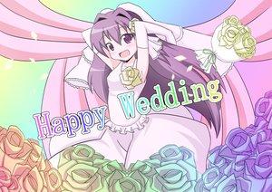 Rating: Safe Score: 15 Tags: clannad fujibayashi_kyou wedding wedding_attire User: HawthorneKitty