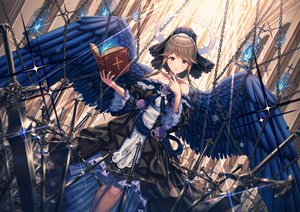 Rating: Safe Score: 88 Tags: angel book cage chain cross flowers goth-loli halo idolmaster idolmaster_million_live! lolita_fashion rose stockings sword tagme_(artist) tenkuubashi_tomoka weapon wings User: sadodere-chan