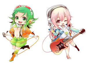 Rating: Safe Score: 36 Tags: guitar gumi instrument microphone nijita18 sonico super_sonico vocaloid User: FormX