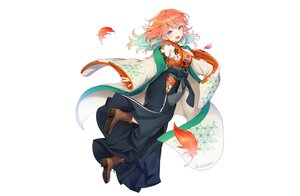 Rating: Safe Score: 59 Tags: blush boots curcumin feathers hololive japanese_clothes kimono orange_hair purple_eyes signed takanashi_kiara white User: otaku_emmy