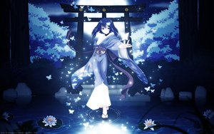 Rating: Safe Score: 86 Tags: akai_ito butterfly flowers hatou_yumei japanese_clothes moon night purple_eyes purple_hair short_hair tree vector water yukata User: Mund