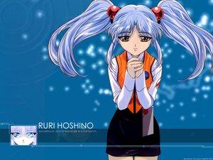 Rating: Safe Score: 2 Tags: gray_hair hoshino_ruri long_hair martian_successor_nadesico twintails yellow_eyes User: Oyashiro-sama