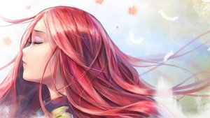 Rating: Safe Score: 124 Tags: close feathers long_hair original red_hair wet_elephant User: FormX