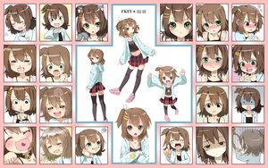 Rating: Safe Score: 401 Tags: animal_ears brown_hair catgirl fkey green_eyes jpeg_artifacts konachan.com original shirakawa_kona short_hair skirt User: StahnAileron