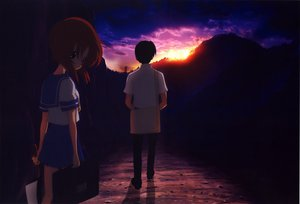 Rating: Safe Score: 35 Tags: higurashi_no_naku_koro_ni maebara_keiichi ryuuguu_rena User: 秀悟