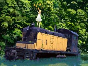 Rating: Safe Score: 92 Tags: blonde_hair dress food fruit original ruins scenic souldeep train tree water User: Oyashiro-sama