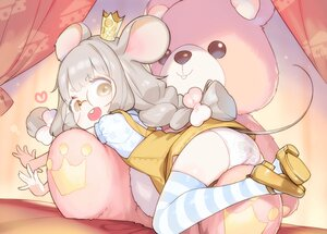 Rating: Questionable Score: 18 Tags: animal_ears ass braids glasses gray_hair henreader loli mousegirl panties princess_celesse_(vtuber) tail thighhighs twintails underwear User: Fepple