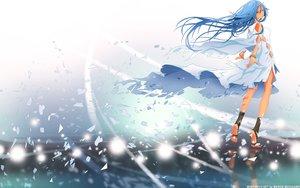 Rating: Safe Score: 74 Tags: aqua_eyes blue_hair braids dress harmony kuzakawe_maron long_hair mihie_miach redjuice wristwear User: gnarf1975