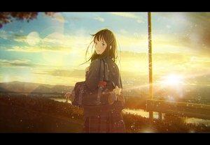 Rating: Safe Score: 25 Tags: clouds nakamura_yukihiro original seifuku sky sunset User: FormX