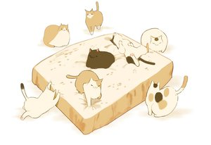 Rating: Safe Score: 39 Tags: animal cat chai_(artist) food nobody original polychromatic white User: otaku_emmy