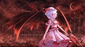 Rating: Safe Score: 38 Tags: moon niuy red remilia_scarlet spear touhou vampire weapon wings User: FormX