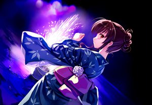 Rating: Safe Score: 141 Tags: abhar brown_hair deep_blue_sky_&_pure_white_wings fireworks japanese_clothes misaki_kurehito nakano_hinata yukata User: 秀悟
