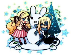 Rating: Safe Score: 16 Tags: 2girls blonde_hair blue_eyes christmas kuzuhara_kazuya snow User: HawthorneKitty