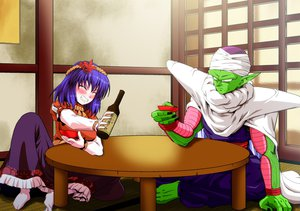 Rating: Safe Score: 31 Tags: barefoot blush crossover dragonball dress drink hat headband kamishima_kanon piccolo purple_hair short_hair touhou yasaka_kanako User: C4R10Z123GT
