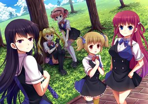 Rating: Safe Score: 53 Tags: animal black_hair blonde_hair blue_eyes brown_hair cat grass grisaia_no_kajitsu group headband irisu_makina jpeg_artifacts komine_sachi long_hair matsushima_michiru orange_hair park pink_hair purple_eyes red_eyes sakaki_yumiko scenic school_uniform short_hair suou_amane thighhighs tree twintails villyane User: humanpinka