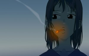 Rating: Safe Score: 36 Tags: cigarette flcl gainax samejima_mamimi short_hair smoking vector User: rlyeh