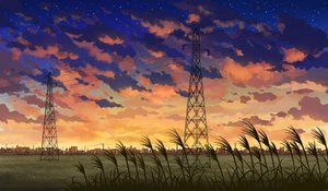 Rating: Safe Score: 33 Tags: city grass landscape mizuasagi nobody original scenic sunset User: otaku_emmy