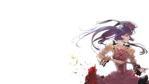 Rating: Safe Score: 45 Tags: 35_(pixiv) animal blood blue_eyes blue_hair bow butterfly dress flowers furudo_erika gun long_hair twintails umineko_no_naku_koro_ni weapon User: noitis