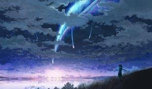 Rating: Safe Score: 172 Tags: clouds grass kimi_no_na_wa landscape miyamizu_mitsuha scenic seifuku short_hair sky sorakuma_(oycue41) water User: mattiasc02