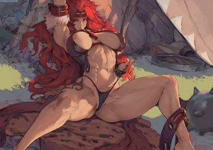 Rating: Questionable Score: 73 Tags: bikini cutesexyrobutts erect_nipples long_hair nipple_slip purple_eyes queen's_blade red_hair risty signed sketch swimsuit tattoo User: BattlequeenYume