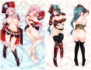 Rating: Explicit Score: 467 Tags: armor ass blush boots bow breasts captain_liliana censored hat hinasaki long_hair mirim nipples panties pink_eyes pink_hair queen's_blade skirt thighhighs underwear User: opai