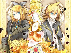 Rating: Safe Score: 28 Tags: blonde_hair blue_eyes haru_aki kagamine_len kagamine_rin vocaloid User: HawthorneKitty