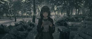Rating: Safe Score: 101 Tags: black_eyes black_hair dark forest original paper polychromatic school_uniform short_hair snow tree wang-xi User: Dreista