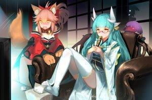 Rating: Safe Score: 68 Tags: animal_ears fate/grand_order fate_(series) foxgirl group kiyohime_(fate/grand_order) tagme_(artist) tagme_(character) tail tamamo_cat tamamo_no_mae_(fate) User: luckyluna