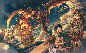 Rating: Safe Score: 36 Tags: airship clouds dragon loli male original shiimo sky User: FormX