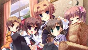 Rating: Safe Score: 72 Tags: brown_hair cabbit chisha game_cg group loli long_hair midori_no_umi miyuki_(midori_no_umi) orange_hair pink_hair shiraha_(midori_no_umi) short_hair takuma_(midori_no_umi) tsumugi_(midori_no_umi) twintails yukie User: Katsumi