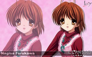 Rating: Safe Score: 16 Tags: brown_eyes brown_hair clannad furukawa_nagisa key logo short_hair zoom_layer User: Oyashiro-sama