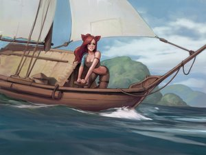 Rating: Safe Score: 91 Tags: animal_ears boat catgirl final_fantasy final_fantasy_xiv jeff_macanoli miqo'te User: gnarf1975