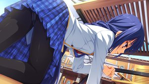 Rating: Questionable Score: 95 Tags: blue_hair game_cg muririn nagamitsu_maya noble_works panties pantyhose seifuku skirt underwear upskirt User: Wiresetc