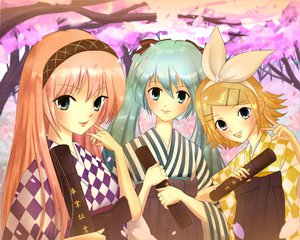 Rating: Safe Score: 8 Tags: hatsune_miku kagamine_rin megurine_luka twintails vocaloid User: HawthorneKitty