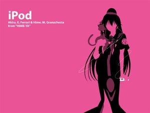 Rating: Safe Score: 9 Tags: akira_e_ferrari aria hime_m_granzchesta ipod parody pink silhouette User: Oyashiro-sama