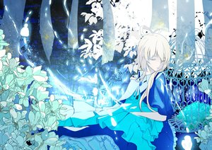 Rating: Safe Score: 43 Tags: aliasing blue dress flowers luo_tianyi polychromatic vocaloid vocaloid_china User: luckyluna