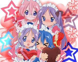 Rating: Safe Score: 29 Tags: hiiragi_kagami hiiragi_tsukasa izumi_konata jpeg_artifacts lucky_star maid takara_miyuki valentine User: 秀悟