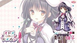 Rating: Safe Score: 38 Tags: black_hair hat kifune_yuzu long_hair otome_domain pantyhose tatekawa_mako User: Wiresetc