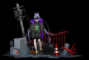 Rating: Safe Score: 25 Tags: animal_ears bike_shorts black eyepatch long_hair luo_tianyi mask necklace purple_hair shorts skirt tidsean vocaloid vsinger User: BattlequeenYume