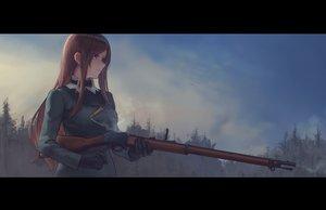 Rating: Safe Score: 73 Tags: clouds dorothy_(princess_principal) genso gloves gun long_hair princess_principal sky weapon User: RyuZU