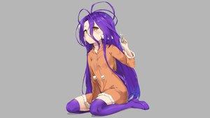 Rating: Safe Score: 75 Tags: boots cat_smile gray hoodie loli long_hair no_game_no_life orange_eyes pixel_(yuxian) purple_hair shuvi_dola zettai_ryouiki User: Hakha