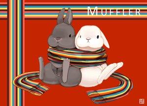 Rating: Safe Score: 34 Tags: animal bondage lilac_(pfeasy) original rabbit red scarf waifu2x User: otaku_emmy