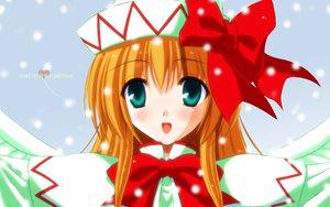 Rating: Safe Score: 22 Tags: fairy green_eyes hat lily_white long_hair orange_hair ribbons touhou User: Oyashiro-sama