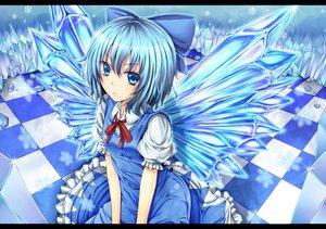 Rating: Safe Score: 80 Tags: blonde_hair blue_eyes bow cirno dabadhi dress fairy touhou wings User: HawthorneKitty